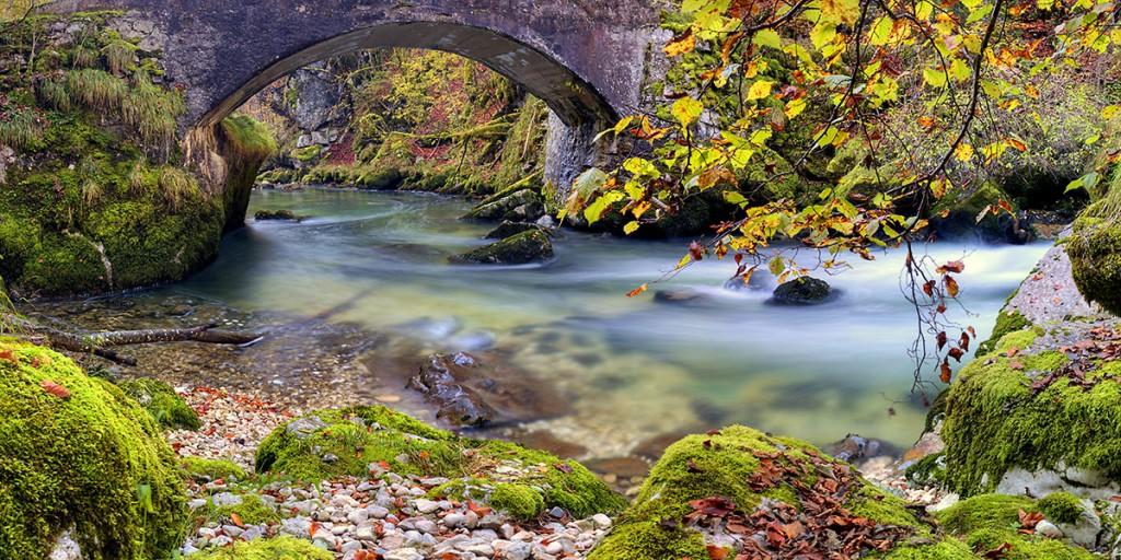 La Valserine sous le pont du Diable