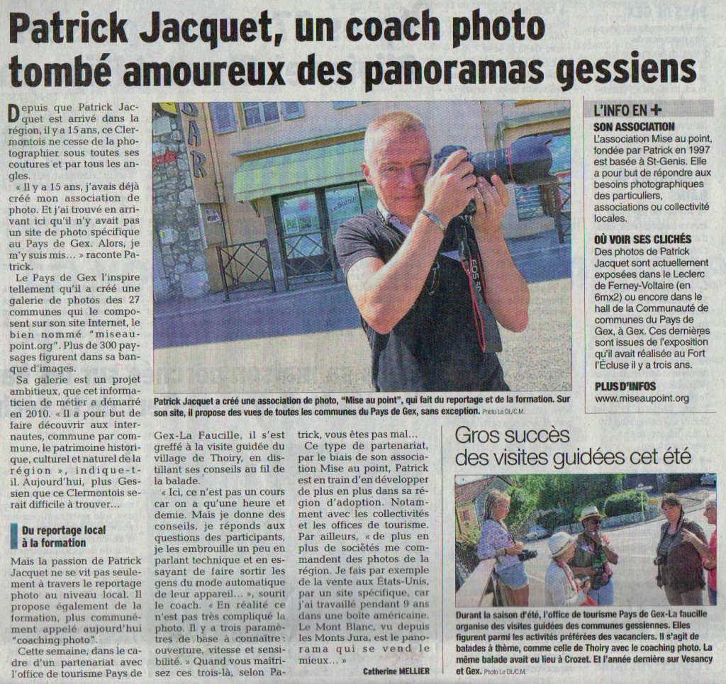 Coaching photo dans le Pays de Gex