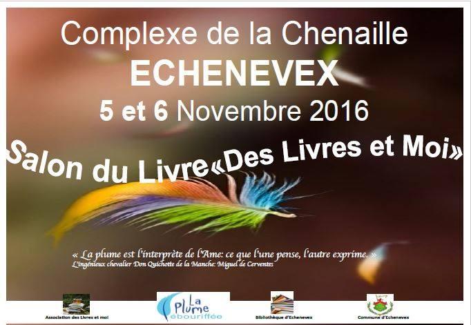 Salon du livre Echenevex 5 et 6 Nov 2016